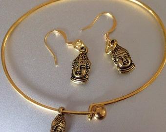 Buddha Earrings  and Bangle