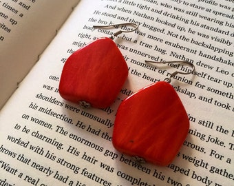 Chunky orange earrings