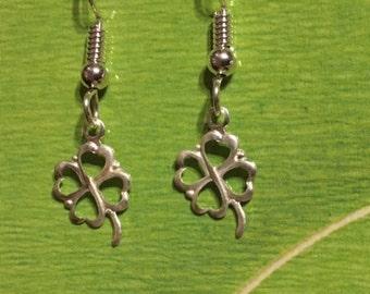 Four Leaf Clover Sterling Silver Earrings