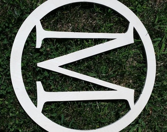 Monogrammed Door Hanger –  Sign Round Monogram