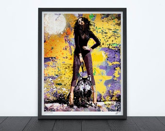 SHE WOLF, graphic contemporary art, signed giclee print