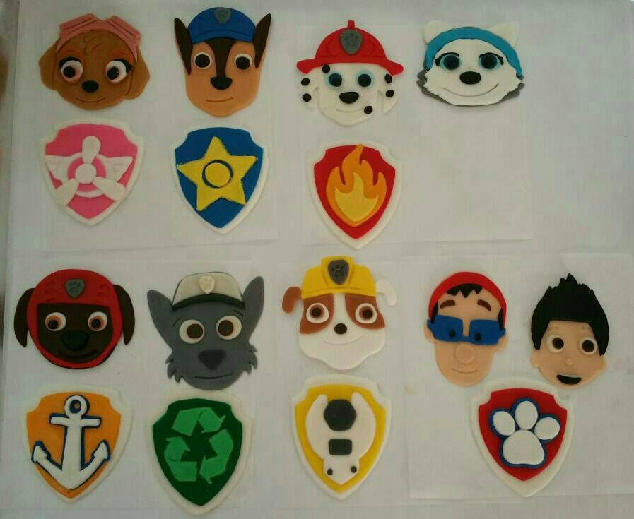 Edible Cake Decorations Paw Patrol : 12 Paw Patrol edible fondant cake cupcake and cookie toppers