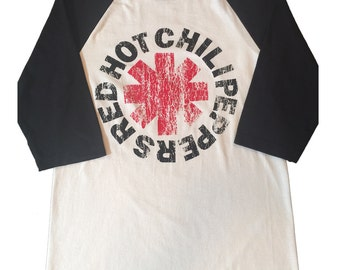 A Tribute To Red Hot Chilli Peppers Men's Baseball 3/4 Sleeve Tee New