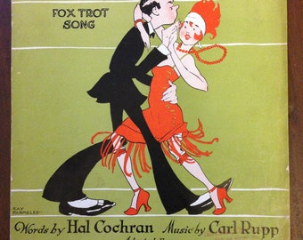 Vintage 1925 FOOTLOOSE Sheet Music