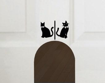 Cat Door Vinyl Decal, Litterbox decal Decal