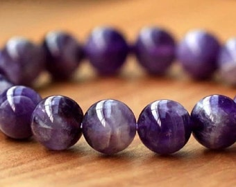 Amethyst genuine gemstones bracelet