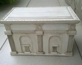 Gift box / Wood box/ Jewelry box / Handmade storage box chest/ Шкатулка сундук ручной работы