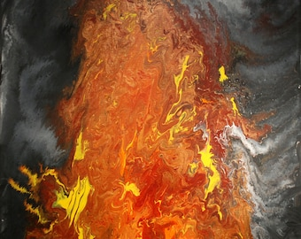 Lava - Original Acrylic on 16 x 20 Canvas