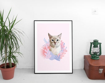 Kitty Print lowpoly