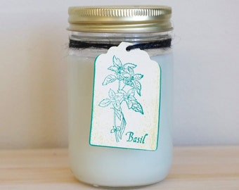 Basil Scented 12 oz Soy Candle