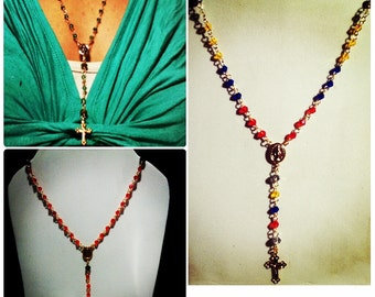 FREE WORLWIDE SHIPPING Bead chain rosary