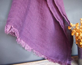 Linen Purple Scarf, Linen Women Accessories, Linen Gift