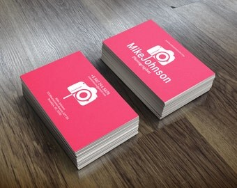 Photography Business Card Template, Photographer card, Digital Download, Business card, Printable set