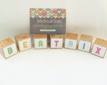 Baby Shower Game (UK seller) - Decorate nursery name blocks