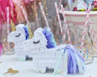 Mini unicorn pinatas // set of 2 // unicorn party // unicorn decorations // girls unicorn birthday // unicorn party favor