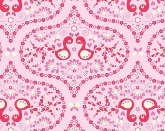 "Flutterberry Bird Pink by Riley Blake C4591  100% cotton Fabric by the YARD 36""x43"" (H142)"