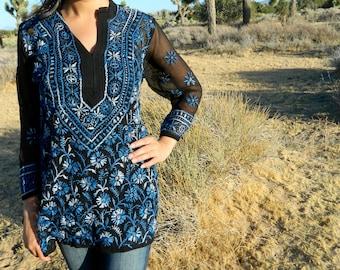 Hand Embroidered Tunic Top Kurti
