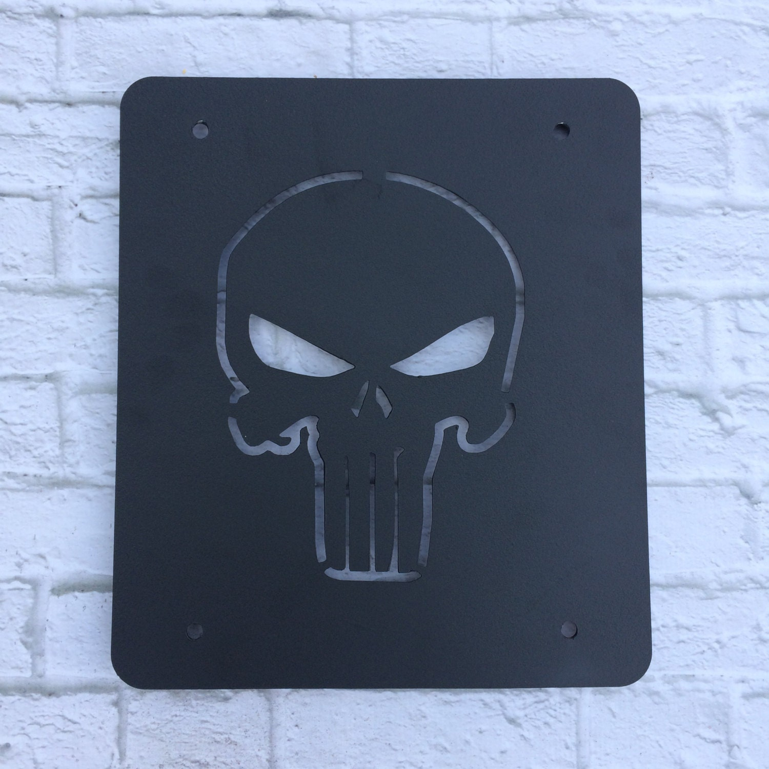 Punisher Skull Jeep Wrangler Jk Tj Tire Delete Plate Panel