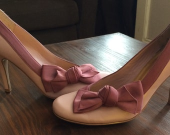 1990's Oasis pink bow heels