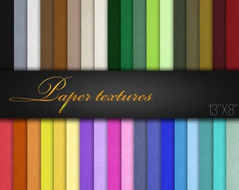 Digital Scrapbooking Paper / Natural Paper Textures / Pack of 36 JPG files 300 dpi / Printable Paper For Craft / Color Variety / Real Photos