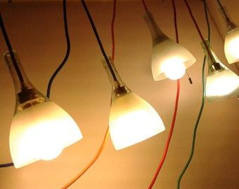Lamp hanging lamp recycling Upcycling glass light Chianti