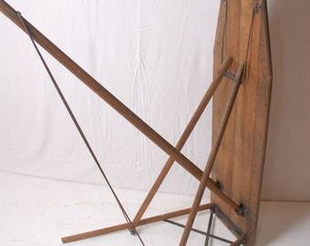 Vintage wood ironing board, farmhouse ironing board, rustic Ironing