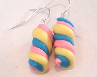 Handmade Marshmallow Earrings