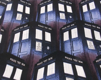 Clearance Doctor Who Fabric Police Box Remnant Fabric Science Fiction Fabric Pillow Fabric Curtain Fabric Doctor Who Tardis Phone Booth