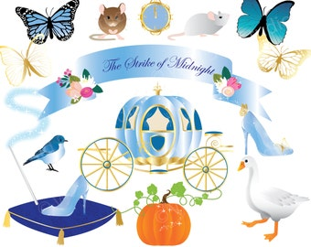 Cinderella theme clipart