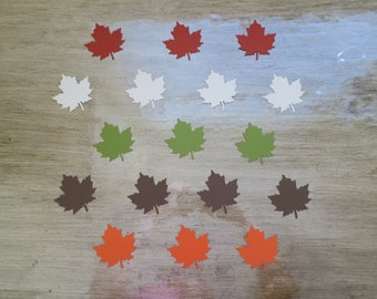 Fall Leaf 25 Count Confetti autumn brown red orange green party table decor large confetti