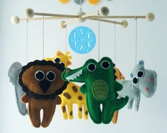 Sawannah Baby Mobile, Baby Crib, Nursery Mobile