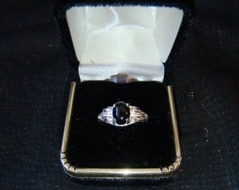 Sterling Silver and Onyx Ring size 7.5