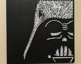 Darth Vader String Art
