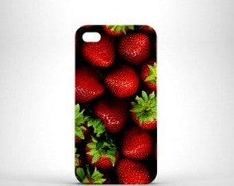 Coque Fraise iPhone 4S 5 5C SE 6 S 6 PLUS & Samsung Galaxy S3 S4 S5 S6 EDGE S7