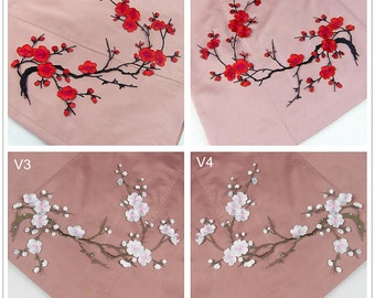35x20cm Embroidery plum blossom Applique Wintersweet Hand sewing DIY clothing accessories DIY clothing dress skirt