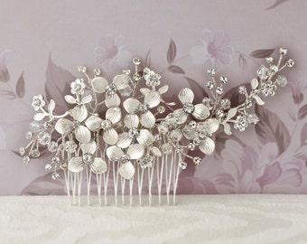 Crystal Bridal Hair Comb Handmade Wire #125943