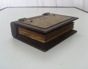 Vintage Wooden Book Box
