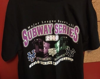 Vintage 2000 SUBWAY SERIES yankees mets T Shirt