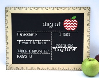 First Day of School Sign, Reusable First Day of School Sign, First Day of School Chalkboard, First Day Chalkboard, Last Day of School Sign