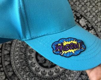 """STAR - Teal Blue """"WHOOM!"""" Baseball Cap"""