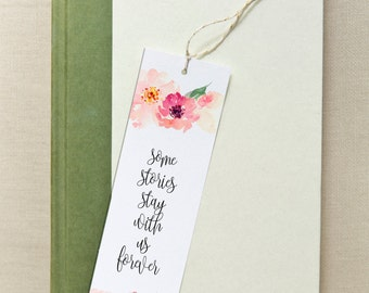 printable bookmarks, bookmarks, printable. quotes, inspirational,  instant download, floral