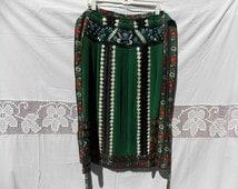 Beautiful Traditional Hungary apron, Hungary antique dress, green apron,Kalotaszeg Beautiful apron, dance flowers apron, vintage apron 94