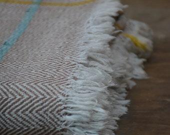Earthy brown twill weave hand-spun and handwoven Khadi Throw , indian cotton , khadi throw , handloom throw , handwoven twill weave