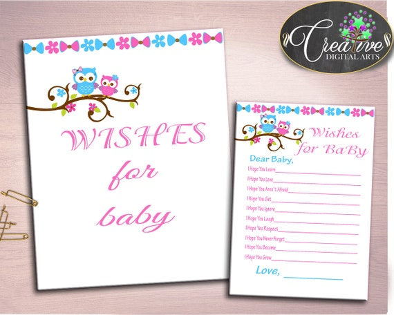 Shower Owl Theme Baby Shower Tree Learning Best Wishes Wishes For