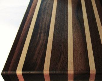 Sleek Walnut and Maple Cutting Board