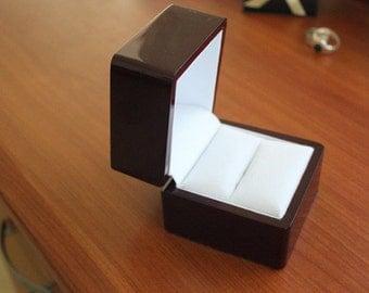 Half price Large ring gift box/twin ring box