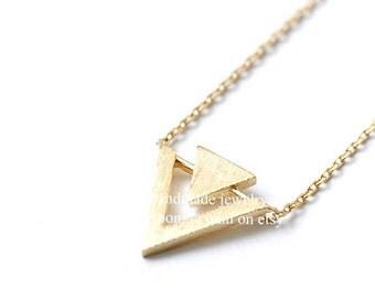 Triangle Necklace, Triangle, Triangle Jewelry, Simple Necklace, Geometric Necklace, Minimalist Necklace