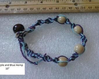 Hand woven ankle bracelet.