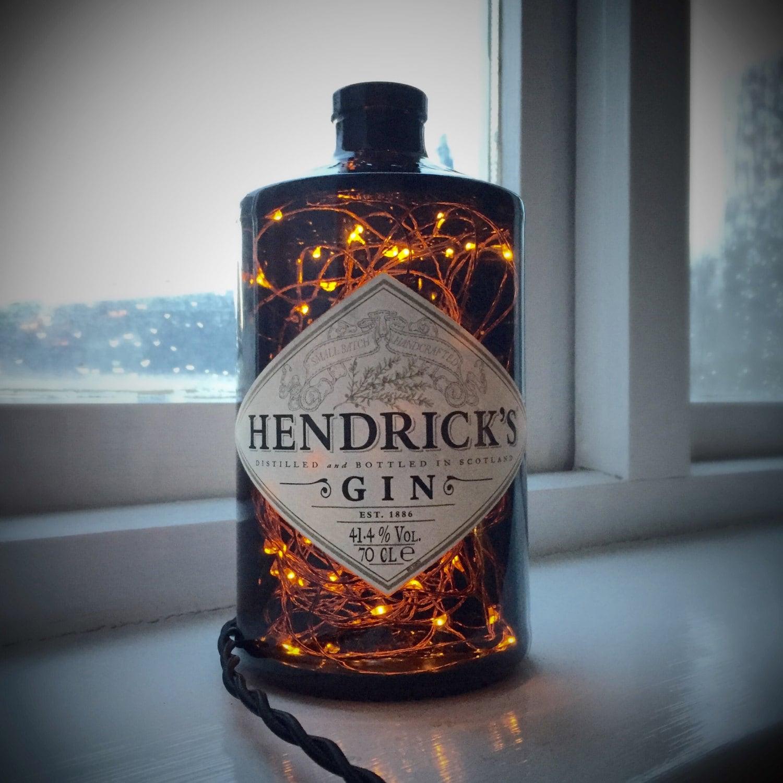 Hendricks Gin Lamp Steampunk Lamp Steampunk Light Bottle Lamp