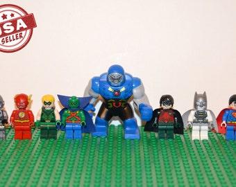 Justice League of America 8 pc minifigure set (Lego Compatible) DC Comics JLA Superhero Villian Darkseid Superman Batman Flash Arrow Cyborg
